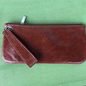 HOBO original leather wristlet